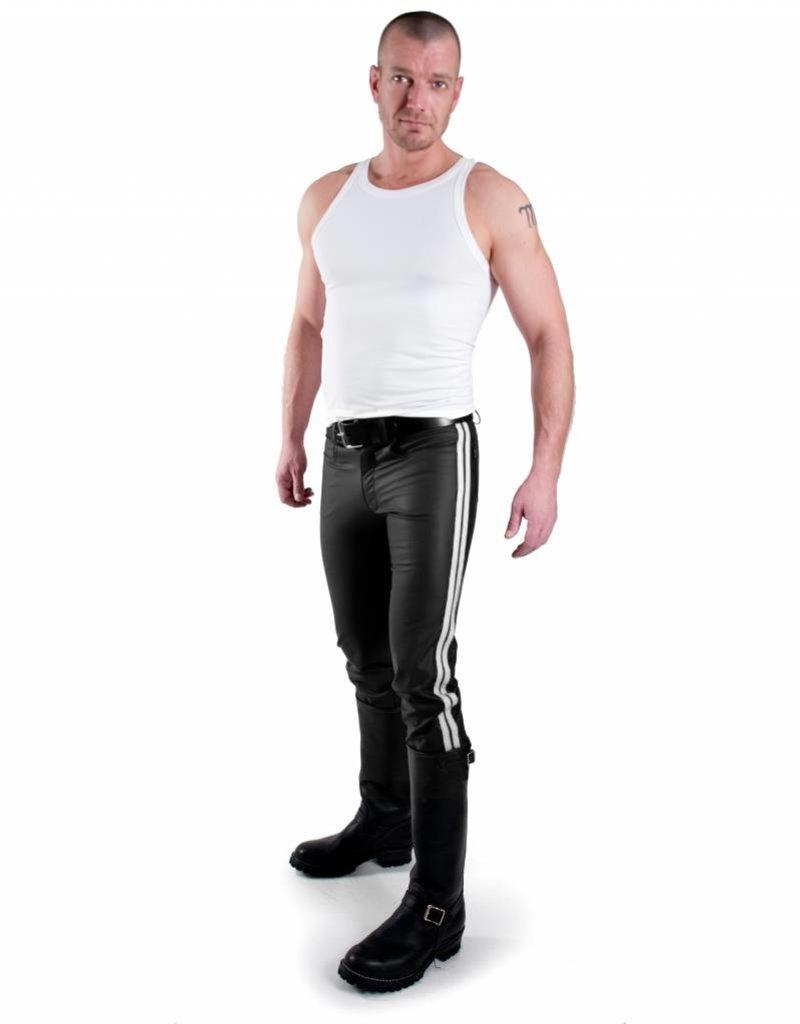 RoB F-Wear Jeans, Weisse Doppelstreifen