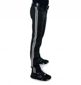 RoB F-Wear Full Zip Jeans, Double White Stripes