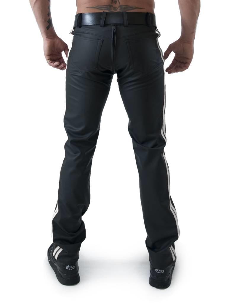 RoB F-Wear Full Zip Jeans, Weisse Doppelstreifen