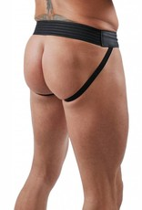 RoB F-Wear Jockstrap with Front Zip and red stripes