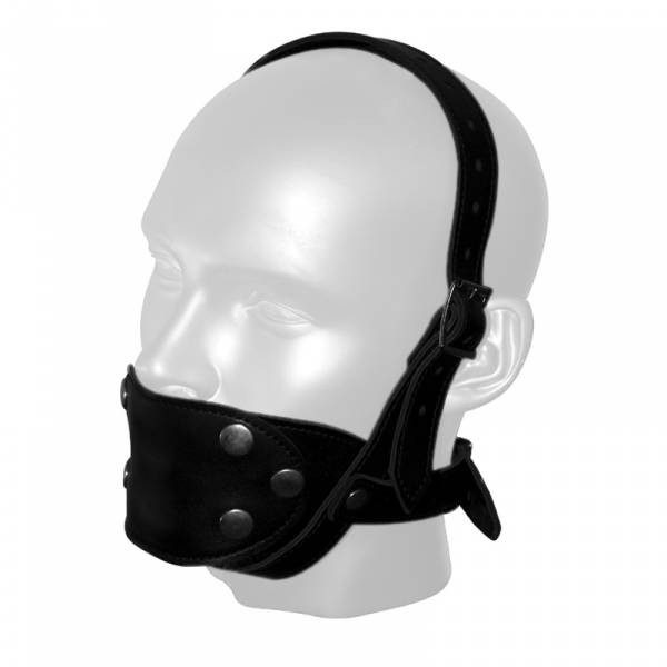 RoB Leder Kinnmaske mit auswechselbaren Mundstueck