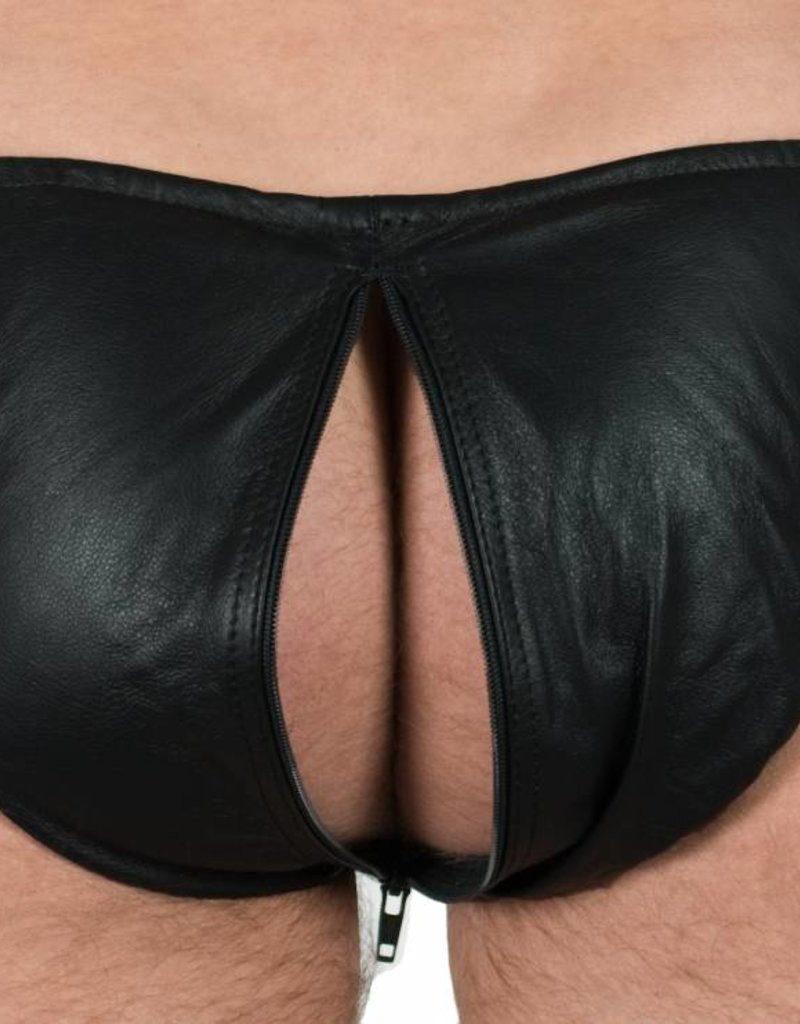 RoB Leather Briefs with Front to Back Zip