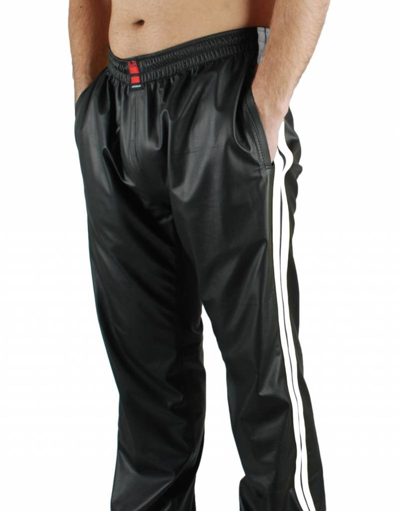 RoB Black Jogging Pants with White Stripes