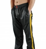 RoB Zwarte jogging broek met gele strepen