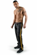 RoB Black Jogging Pants with Yellow Stripes