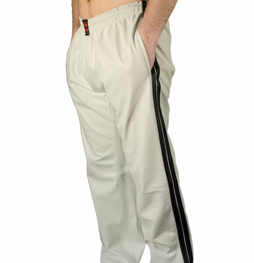 RoB White Jogging Pants with Black Stripes