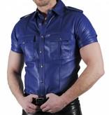 RoB Police Shirt Soft Leather Blue