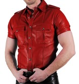 RoB Police Shirt Soft Leather Red