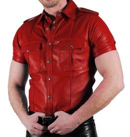 RoB Police Shirt Zacht Leer Rood