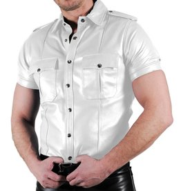 RoB Police Shirt Soft Leather White