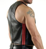 RoB Bartender waistcoat with double red stripes