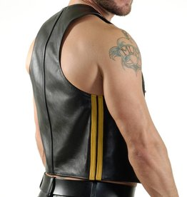 RoB Bartender waistcoat with double yellow stripes