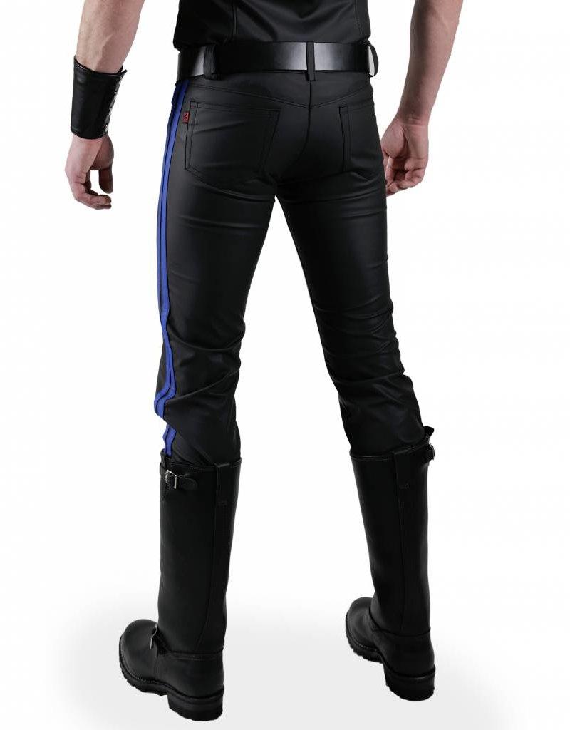 RoB F-Wear Jeans, Blaue Doppelstreifen