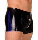 RoB Rubber Shorts with double Blue Stripes