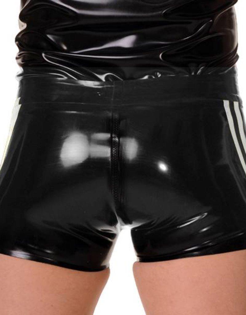 RoB Gummi Full Zip Short mit Weissen Streifen