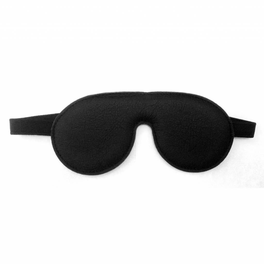 Leren Blindfold zwart