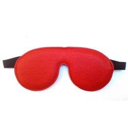Leren Blindfold rood