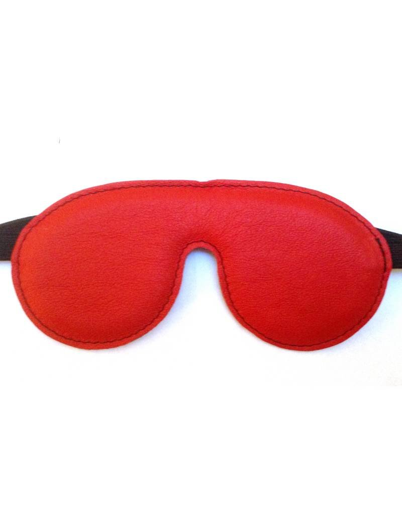 Leather Blindfold red