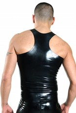 RoB Y-Back Singlet with Front Zip and Blue Stripes