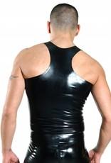 RoB Rubber Y-Back Singlet met rits en witte strepen