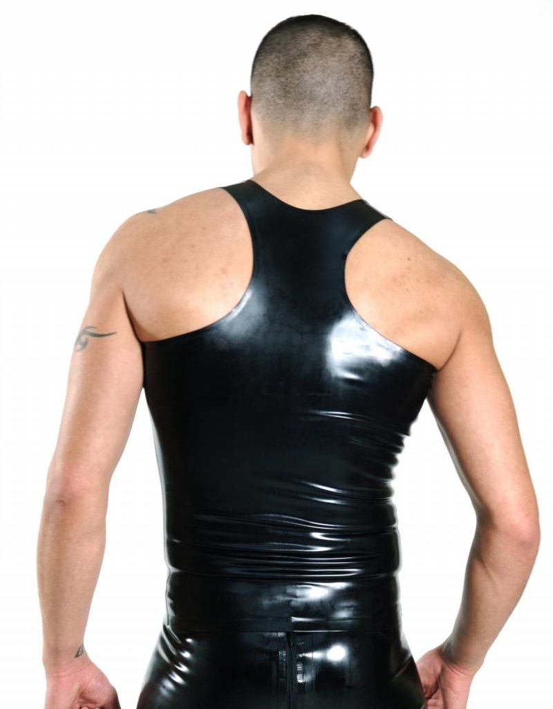 RoB Y-Back Singlet with Front Zip and White Stripes