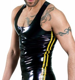 RoB Y-Back Singlet with Front Zip and Yellow Stripes