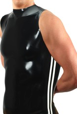 RoB Rubber sleeveless T-shirt with white stripes
