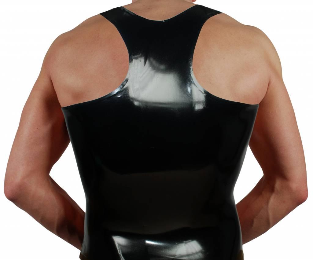 RoB Y-Back Shirt mit Streifen Weiss
