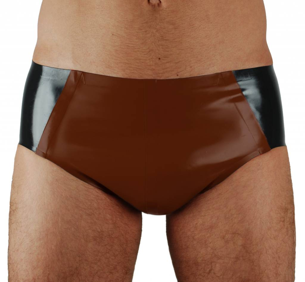 RoB Rubber 'Sport' Brief with brown pouch