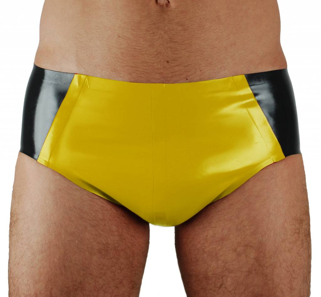 RoB Rubber 'Sport' Brief with yellow pouch