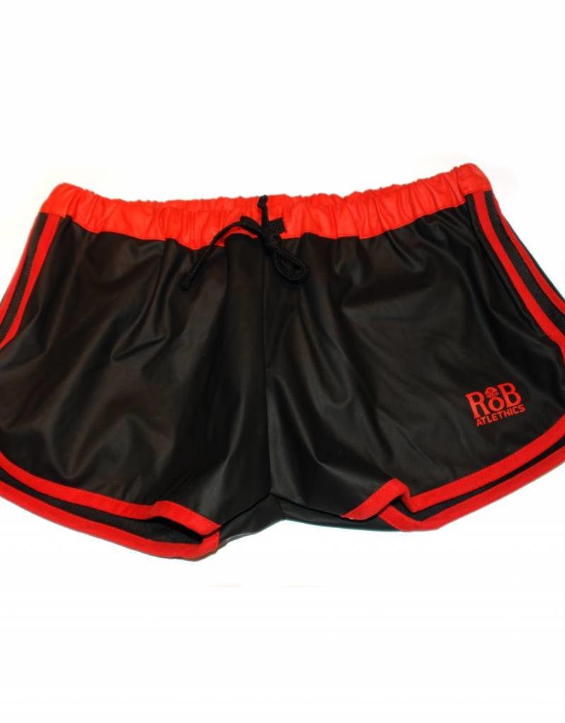 RoB F-Wear Sport Shorts zwart met rode strepen