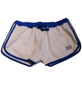 RoB F-Wear Sport Shorts wit met blauwe strepen