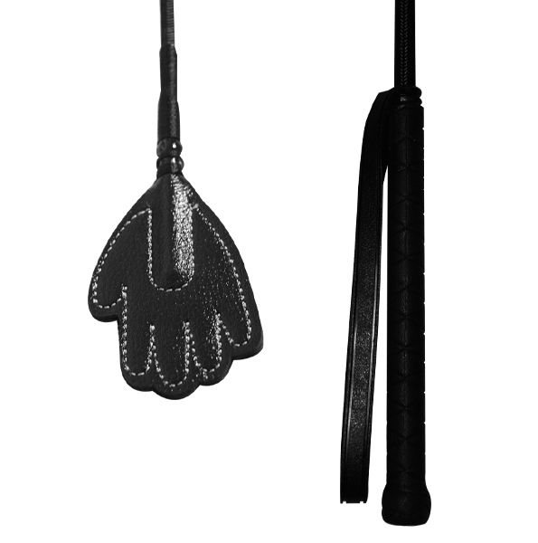 Nylon Crop with Leather Handslapper 48 cm