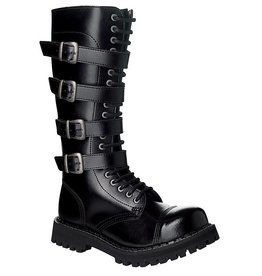 Steel Boots 20 holes, 4 buckles