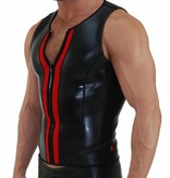 Neoprene Vest with zip black with red panels