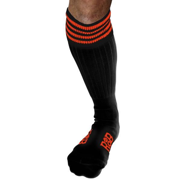 RoB RoB Boot Socks zwart met oranje strepen