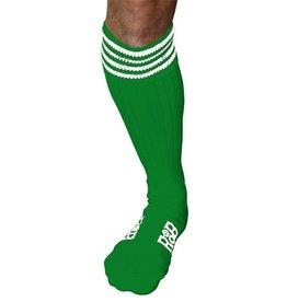 RoB RoB Boot Socks groen met witte strepen