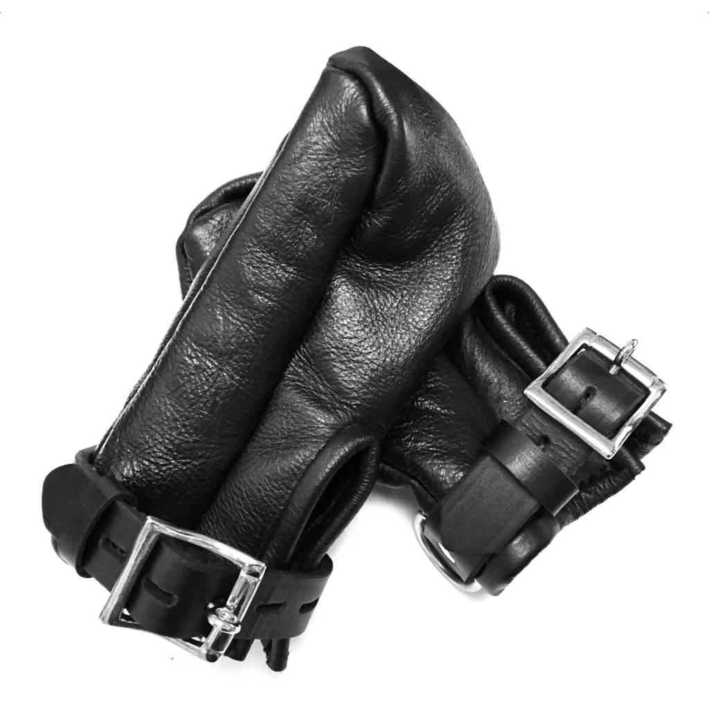 Leather Fist Cuffs, lockable