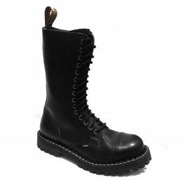 Steel Boots 15 holes Black