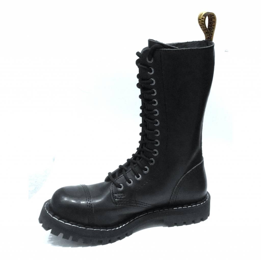 Steel Boots 15 holes zwart