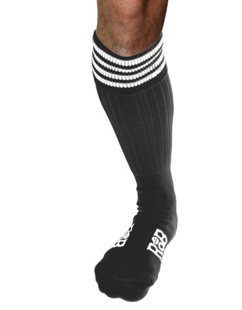 RoB RoB Boot Socks Grey with White Stripes
