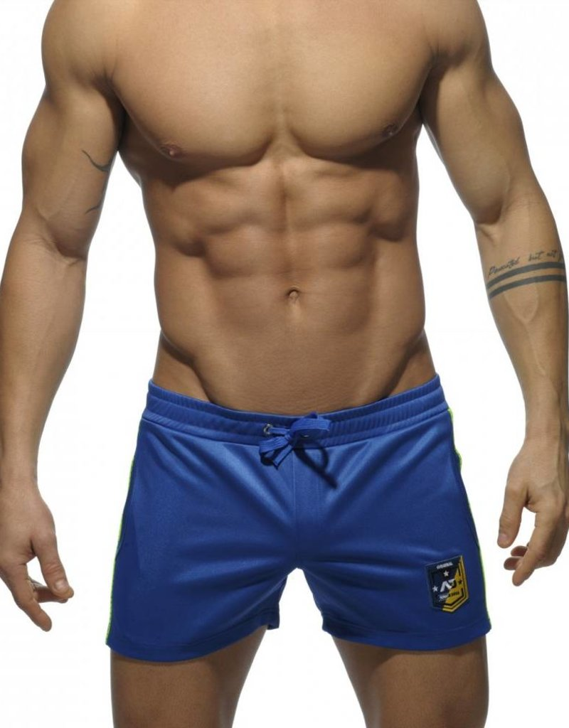 Addicted Addicted Badge Sport Short Royal Blue with Green