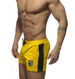 Addicted Addicted Badge Sport Short geel met zwart