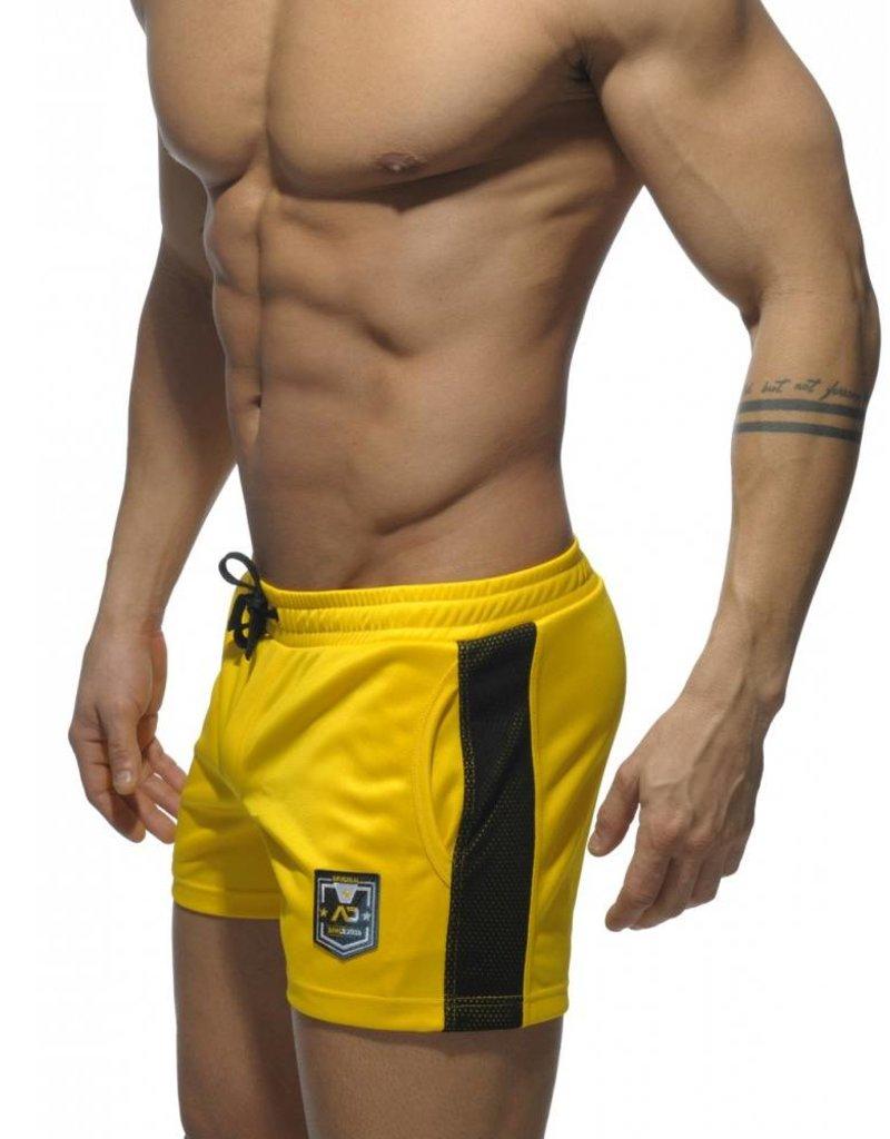 Addicted Addicted Badge Sport Short Yellow with Black