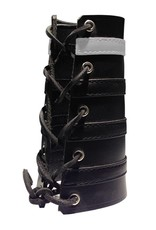 RoB Leather Lace Up Gauntlet with 3 Black and 1 White Stripe