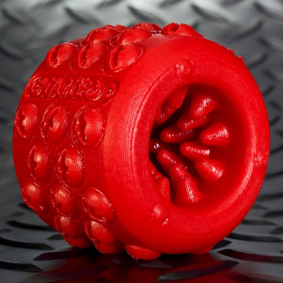 Oxballs Nailed Spiked Ballstretcher Red