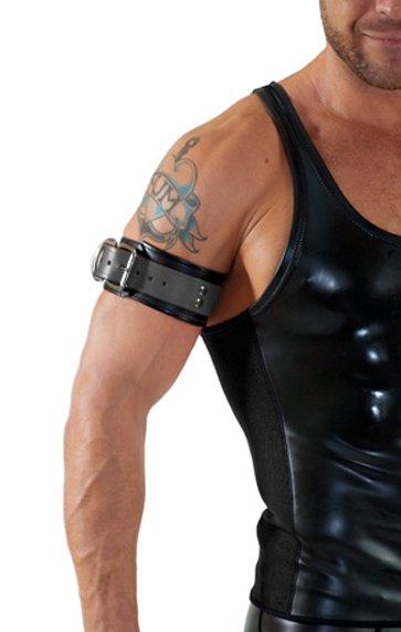 RoB Leather Bicepsband with Buckle, Grey