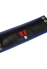 RoB Leder Armgeldbörse, blauer Rand