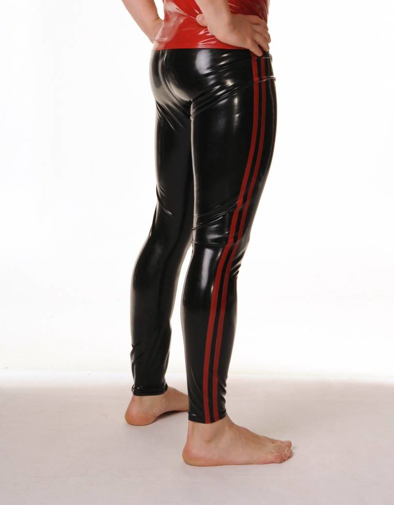 RoB Rubber Legging with Full Zip and Red Stripes