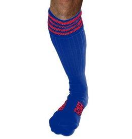 RoB RoB Boot Socks blauw met rode strepen